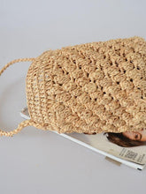 Woven Bag Manual Straw Knit Beach Totes Bag