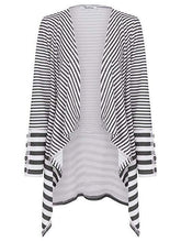 Striped Print Slim Cardigan