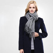 Winter Women Solid Best Quality Cotton Tassels Scarves