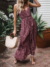 Dovechic Sexy Bow-embellished Spaghetti-neck Maxi Dresses