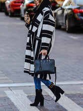 Women's Thick Striped Long Coat