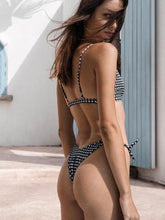 Dovechic Plaid Bow-embellished Empire Bikinis Swimwear