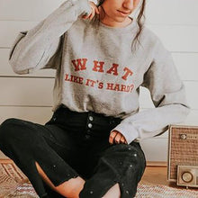 Casual Round Collar Long Sleeved Print Sweatshirt