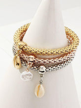 Alloy Tricolor Shell Bracelet Set