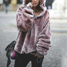 Casual Fashion Loose Purple Long Puff Sleeves Hoodie
