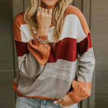 Casual Round Neck Colouring Loose Sweater