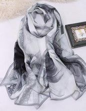 Long Natural Silk satin Scarves