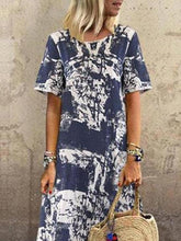 Dovechic Printed Round-neck Short Sleeve Maxi Dress