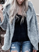 Casual Pure Color Hooded Long Sleeve Jacket