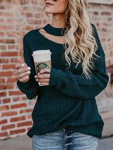 Fashion Design Solid Colour Long Sleeve Sweater