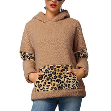 Leopard-Print Long-Sleeved Plush Top