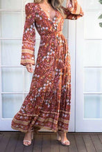 Bohemian Wildflowers Sky Maxi Dress