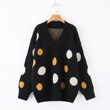 Knitted Polka Dot Sweater-2color