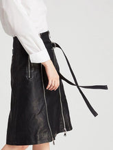 Punk Wind Adjustment Button Waist Skirts