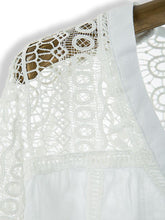 White Lace Hollow-out Long Sleeve Blouse