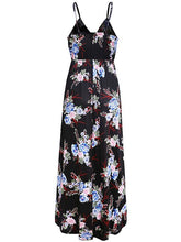Dovechic Floral Printed V-neck Sexy Maxi Dress