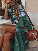 V Neck Women Summer Dresses Daily Vintage Tribal Dresses