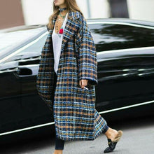 Women's Fashion Loose Plaid Long-Sleeved Coat