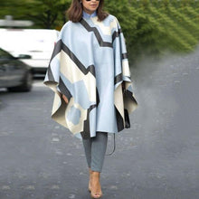 Women's Fashion Loose Contrast Shawl Coat