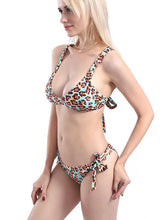 Dovechic Leopard Backless Bikinis Swimwear