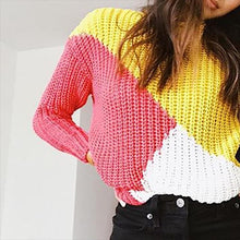 Fashion round collar knitted sweater