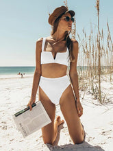 Dovechic Bandeau With High Waist Bikini Set