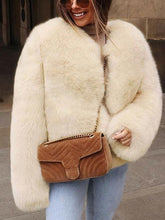 Women's Faux Fur Short Fashion Coat Top
