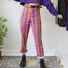 Classic Solid Color Striped Slim Trousers
