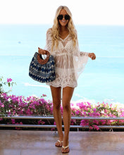Hollow beach blouse Lace stitch Cover-up