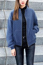 Band Collar  Zipper  Plain Outerwear