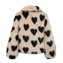 Fashion Lapel Love Plush Coat