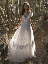 Dovechic V-neck Backless Maxi Wedding Dress