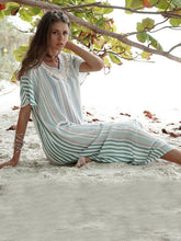 Dovechic Tasseled Striped Printed Maxi Dress