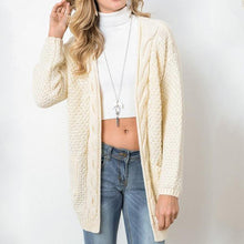 Solid color knit cardigan