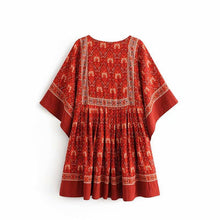 Bohemian print holiday wind beach loose dress