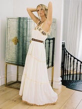 Dovechic Spaghetti Embroidered Loose Maxi Dress