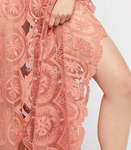 Fashion Lace V-Neck Solid color Maxi dress