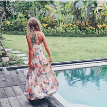 Bohemian print halter top  Maxi dress