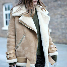 European And American Fur Integrated Leather Coat