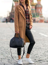 Casual Solid Color Double Lapel Loose Coat