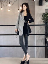 Fashion Slim Color Matching Suit  Coats
