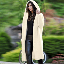 Hooded Long Sleeve Button Plain Casual Cardigans