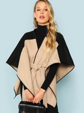 Cut And Sew Loose Cape Coats
