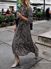 Fashion Leopard Printed Colour Loose Dress