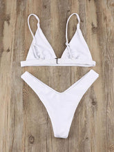 Dovechic 7 Colors Triangle Plain Bikinis Swimwear