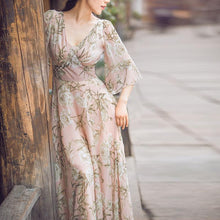 Chiffon Pink Fog Holiday Dress