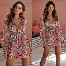 Country Date Floral Waist Mini Dress