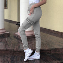 Solid Color Loose Ladies Casual Pants