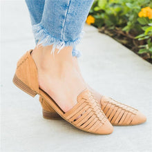 2019 Square Heel Cross Strap Plain Hollow Flat Sandal