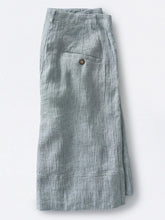 Solid Casual Buttoned Pockets Pants